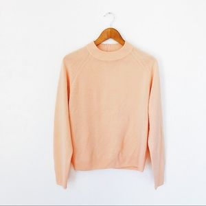 Vintage Peach Mock Neck Sweater